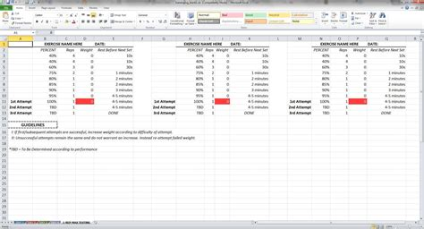training spreadsheet template excelxocom