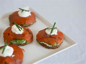 Open Face Smoked Salmon Finger Sandwiches with Herbed ...