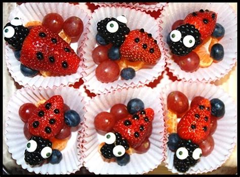 healthy valentines treats 853 | fruit lady bugs