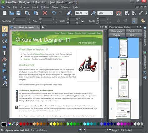 xara web designer xara web designer 11 premium indezine review