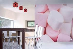 Tapisserie 4 Murs : papier peint cuisine chamallows izoa ~ Zukunftsfamilie.com Idées de Décoration