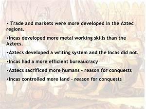 Maya Aztec And Inca Civilizations Chart Aztec Inca Comparison