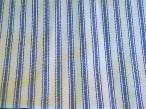 vintage fabric blue and white stripe ticking by