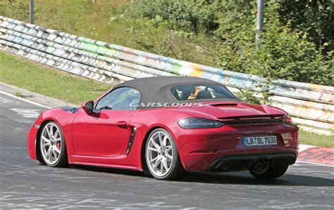 Undisguised Porsche 718 Boxster Gts Shows Up At The Ring