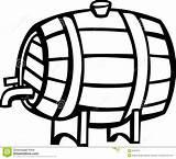 Barrel Keg Beer Clipart Drink Bevanda Illustrazione Barilotto Alcool Vettore Vino Dell Della Wijn Vectorillustratie Alcohol Clipground Cliparts sketch template