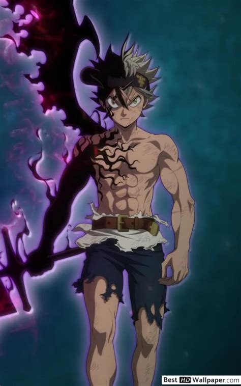 black clover asta demon sword hd wallpaper