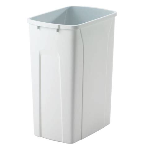 Trash Can 9 Inches Wide by Knape Vogt 18 In H X 14 In W X 9 In D Plastic 35 Qt