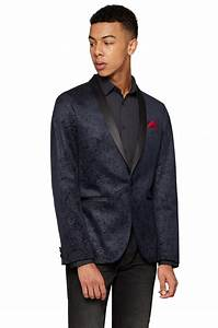 Moss London Mens Navy Blue Velvet Suit Jacket Slim Fit