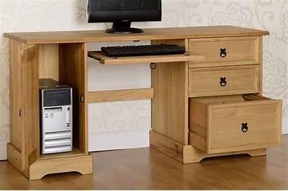 Desk Computer Pine Corona Distressed Waxed Table