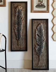 Framed, Feather, Wall, Art, Set, Of, 2