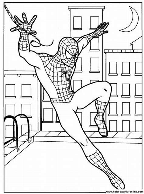 kolorowanki spiderman strona  kolorowanki dla dzieci malowanki  wydruku