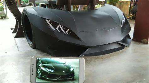 How To Make A Lamborghini by Wow Lamborghini Diy Cardboard Lamborghini