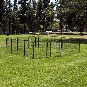 32quot 8 panel dog barrier fence metal playpen kennel cage With small dog fences for outside