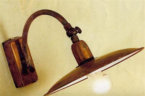 applique rustiche max a d 20 cm applique in ottone naturale o verniciato di
