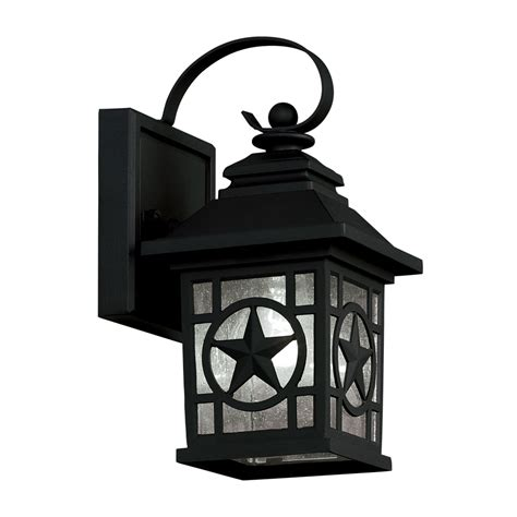 outdoor lights at lowes shop portfolio 24 in rust