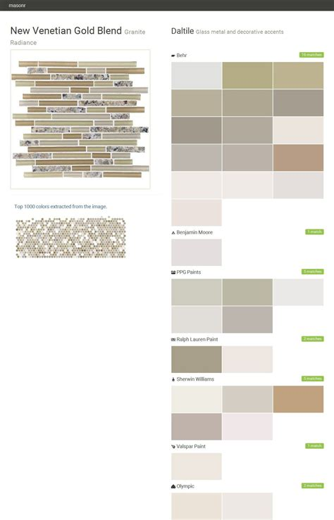 new venetian gold blend granite radiance glass metal and decorative accents daltile behr