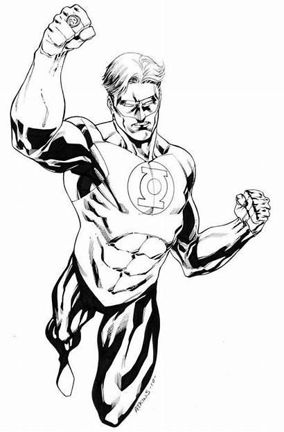 Lantern Coloring Pages Superhero Drawing Comic Deviantart