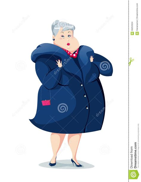Old lady stock vector. Illustration of extravagant ...