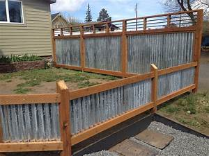 Corrugated Metal Fence Panels Home Depot With Well Made