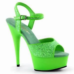 Neon green high heels