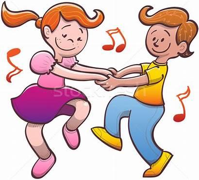 Dancing Fun Children Having Salsa Couple Nice