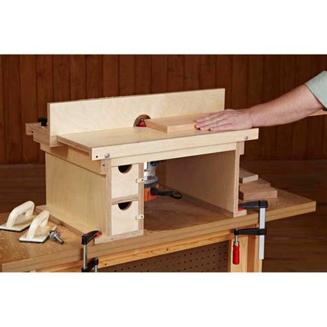 flip top benchtop router table woodworking plan  wood magazine