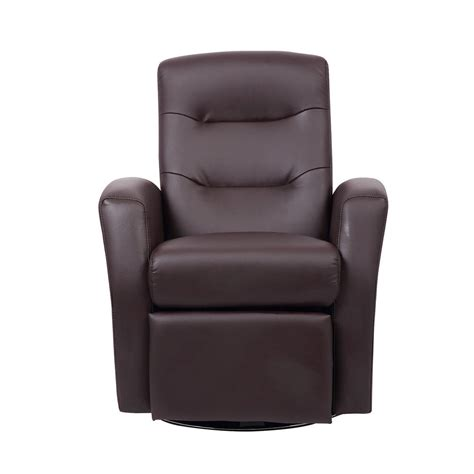 reclining swivel chair furniture comfy faux leather
