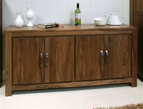 Darkwood Sideboard by Mayan Large Low Living Dining Room Sideboard Solid Walnut