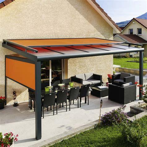 pergola design en alu toit fixe avec store monsieur store