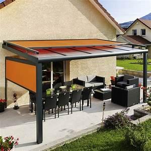 Pergola Murale Alu : pergola design en alu toit fixe avec store monsieur store ~ Edinachiropracticcenter.com Idées de Décoration