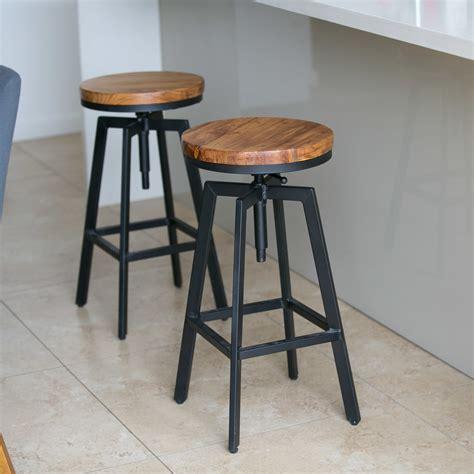 2x metal bar stool nyx kitchen chair swivel adjustable