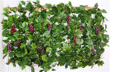 artificial silk grape leaf garland faux vine ivy