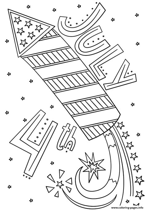 strong  fourth  july monumental  sheets fireworks doodle coloring pages printable