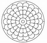 Mandala Coloring Mandalas Coloringcrew Dibujo Simple Patterns sketch template
