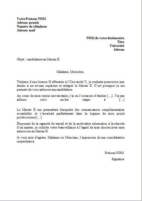 lettre de motivation master lettres modernes lettre de motivation pour un master mod 232 le et conseils