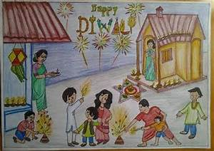 Diwali Paintings, Scene, Drawing Pictures, Sketch for Kids ...