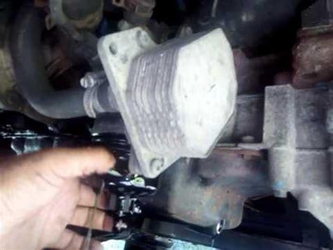change oil filter  ford transit mk youtube