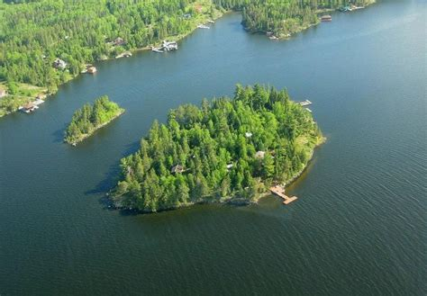 Private 3.5 Acre Island On Lake Of The