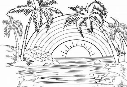 Coloring Pages Printable Colouring Rainbow Inspirations Extraordinary