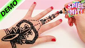 Abzieh Tattoos Selber Machen : henna tattoo selber machen henna hand tattoo tutorial deutsch demo youtube ~ Frokenaadalensverden.com Haus und Dekorationen