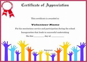 volunteer appreciation certificates free templates - download volunteer certificates the right way 19 free