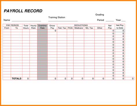 payroll ledger template simple salary slip