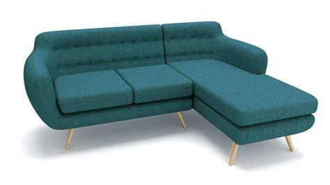 canapé d 39 angle vintage ondigy en tissu au design