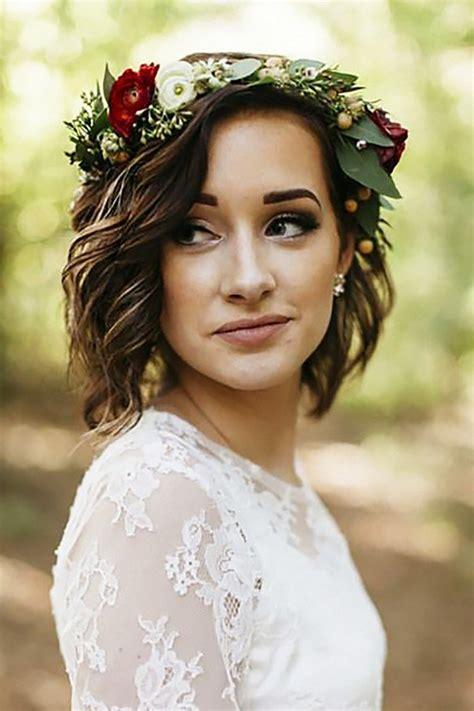 gorgeous wedding hairstyles  flower crown