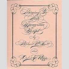 17 Best Images About Spencerian Script On Pinterest  Book, Alphabet And Pens