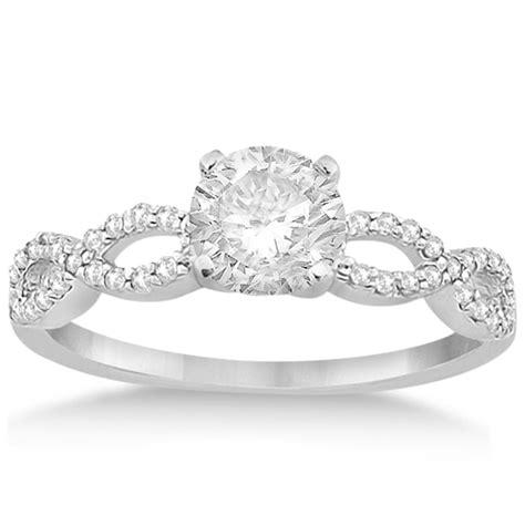 Twisted Infinity Diamond Engagement Ring Setting 14k White