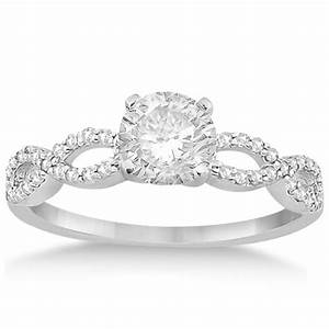 twisted infinity diamond engagement ring setting 14k white With infinity diamond wedding ring