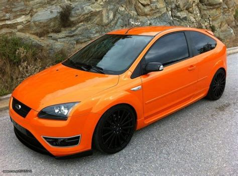 ford focus st mk2 electric orange ford focus st mk2 before facelifting