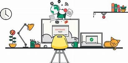 Software Test Management Clipart Developer Testing Build