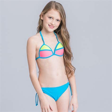 candy patchwork teen girl bikini - TiaNex
